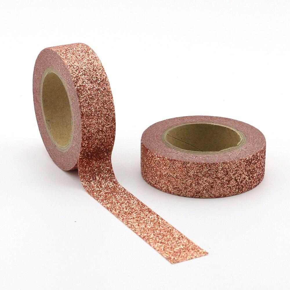 10pcs/lot Brown powder Washi Tape Glitter Japanese Stationery 15mm* 5meter Kawaii washi tape set Scrapbooking Decorative Tape