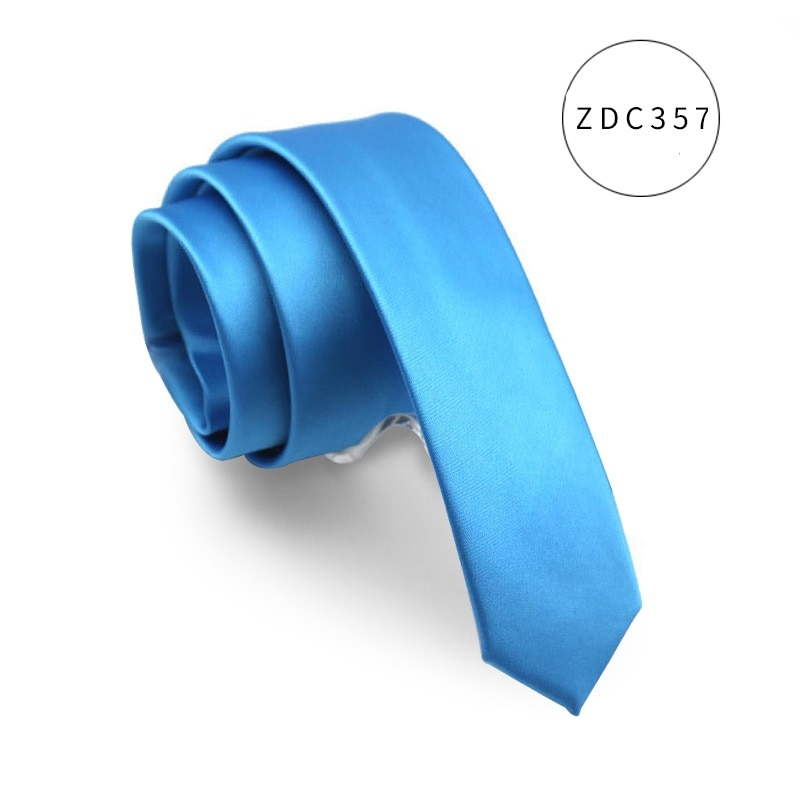 High Quality 2021 New Designers Brands Fashion Business Casual 5cm Slim Ties for Men Solid Color Necktie Work with Gift Box