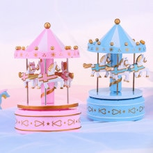 New Carousel Music Box Melody Birthday Christmas Festival Musical Gift for Children Kids SCI88
