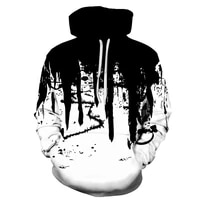 2021 spring and autumn painted mens fashion pullover hoodie street harajuku 3d printing pullover new casual sports hoodie