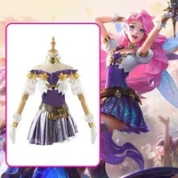 anime lol kda the starry eyed songstress seraphine outfit battle uniform stage women cosplay costume halloween free shipping2020