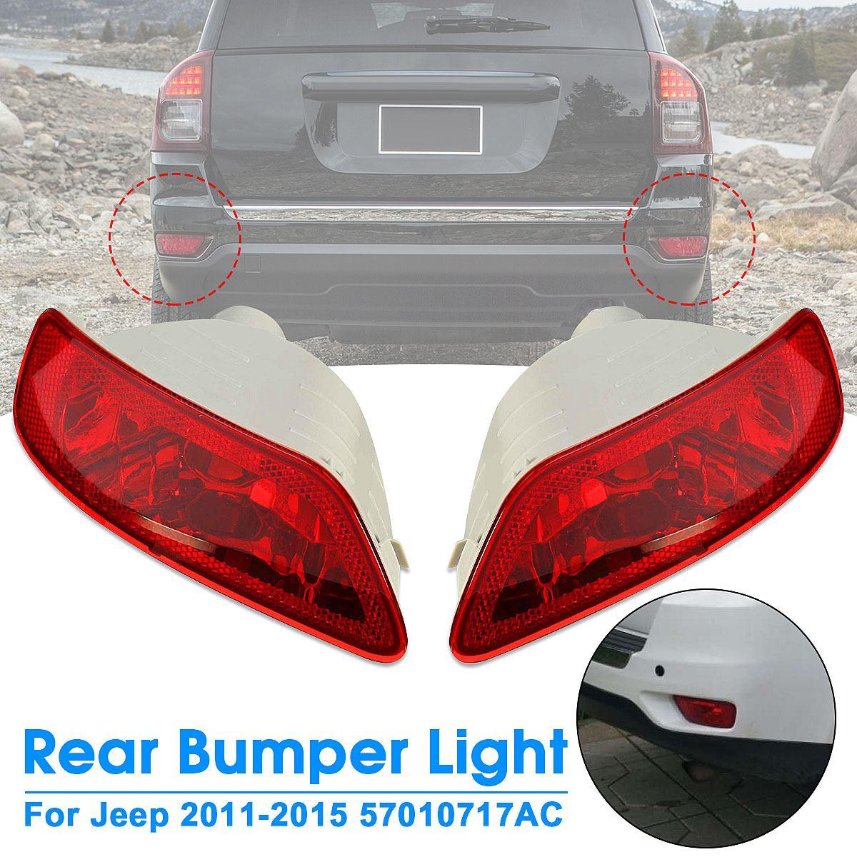 1 шт. 12 В Красный Автомобильный задний бампер противотуманная фара корпус задний поворотный фонарь для Jeep 2011-2015 57010717AC