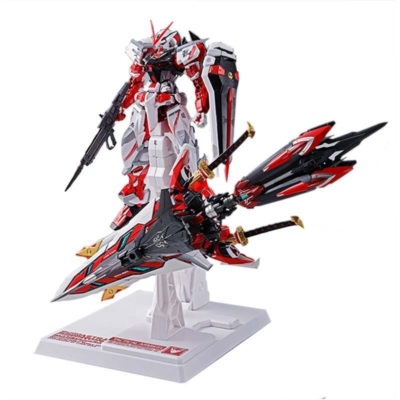 Anime modelo montado gundam mg 1/100 semente mb vermelho heresia figura de ação robô decoração brinquedo presente das crianças