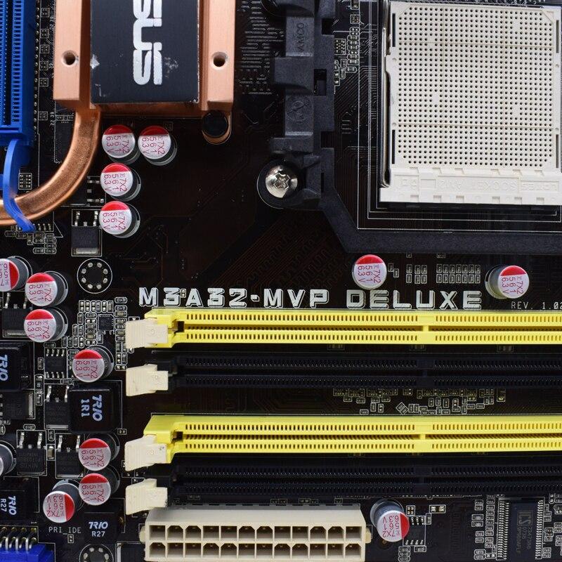 ASUS M3A32-MVP DELUXE Deskt AMD 790FX motherboard Socket AM2+ DDR2 RAM 4xPCI-E 16X support Athlon 64 LE-1620+ cpus ATX Placa-mãe