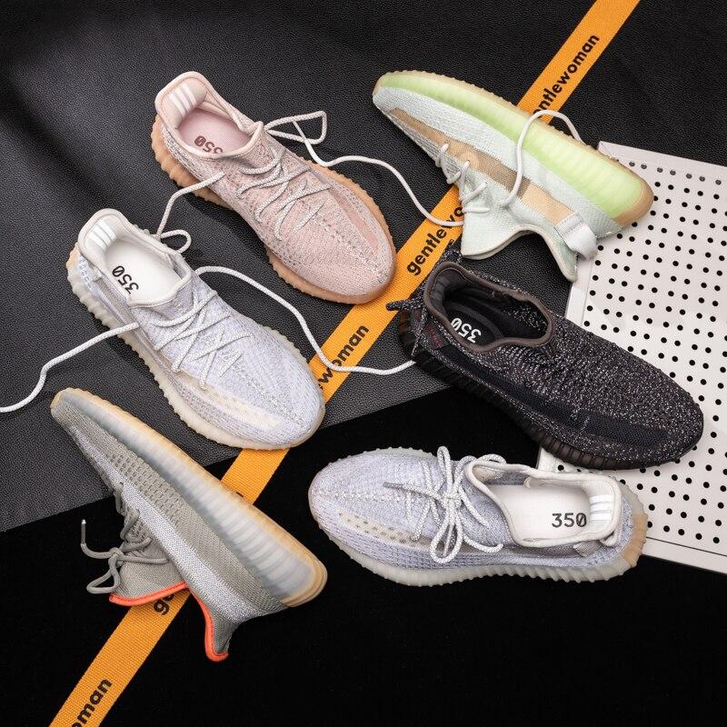 Высококачественная модная дышащая обувь для студентов с перегравированной сеткой, удобная амортизирующая Спортивная Белая обувь для бега