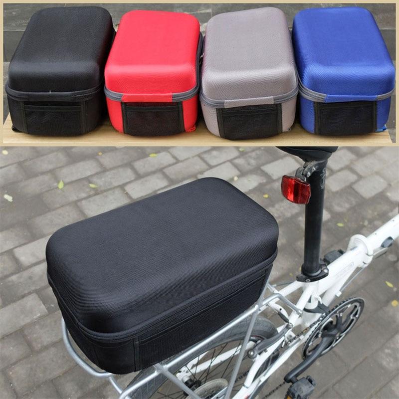 Folding bicycle pannier hard shell rear rack bag for Dahon 412 P8 mountain bike rear rack bag cycling bag bicycle equipment