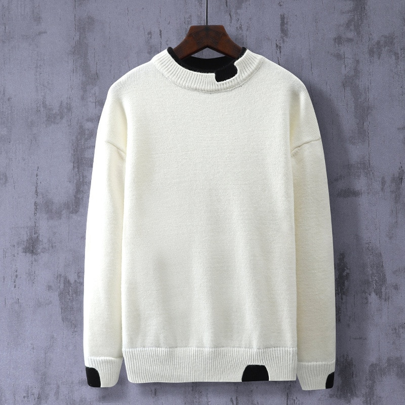 2020 Winter New Plus Size super loose Styles Sweaters Men Knitted Cotton Fake two Pullover Men Big Size Autumn Casual Sweater