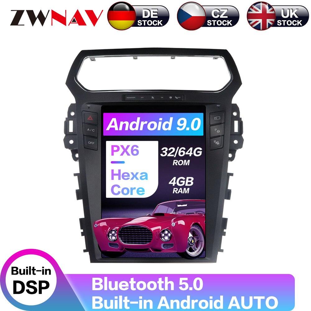 """12,1 """"Android 9 64 + 4G Tesla con DSP Carplay coche reproductor Multimedia Radio para Explorer 2010, 2011, 2012, 2013, 2014, 2015, 2016, 2017 +"""