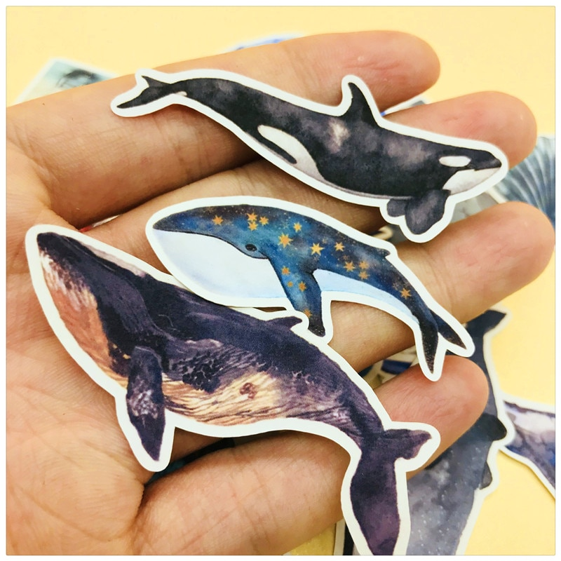 28 PCS\SET Cute Whales And Lighthouse Sticker Diy Diary Label Scrapbooking Stickers Junk Journal Planner Decorative Stationery недорого