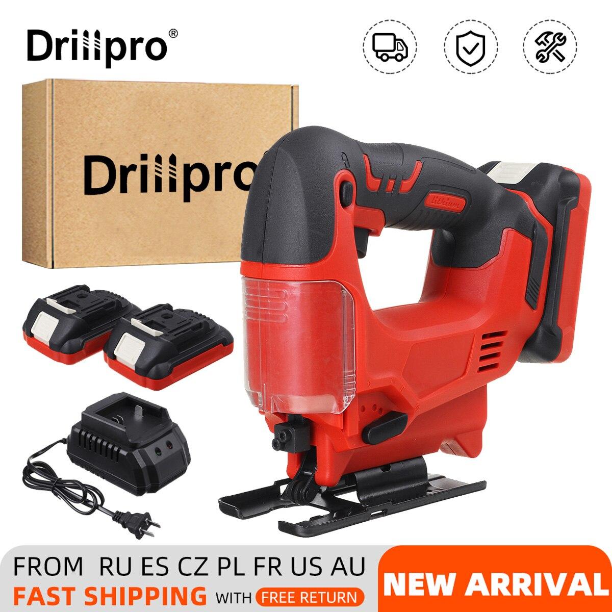 Drillpro 21 فولت 65 مللي متر الكهربائية بانوراما اللاسلكية الرقصة المنشار المحمولة ميتري المنشار المحمولة النجارة أدوات كهربائية لبطارية ماكيتا ...