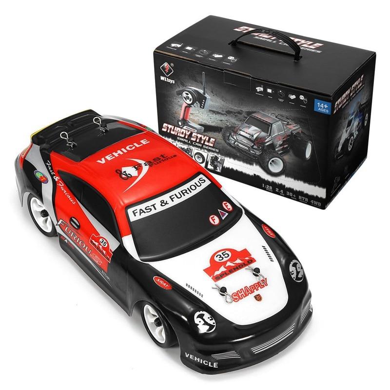 K969 RC Car 1:28 30Km/h 2.4G Remote Control 4WD Off-Road Race Car Toys High Speed Electric Drift Dri
