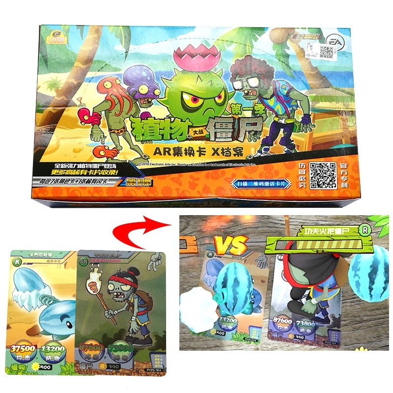 240pcs Plants Vs Zombies Cards 3D Soldiers Against Action Figures Collect Game Card Pea Shooter Sunflower Kid Toy boys toy plants vs zombies hand dolls 3 years old doll pea shooter pepper cannibal flower toy birthday and christmas gifts