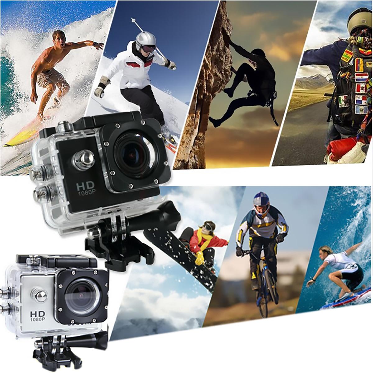 Cámara deportiva 1080P HD 4 K/30fps Cámara de Acción para deportes al aire libre bicicletas motocicleta montañismo paracaídas para deportes extremos