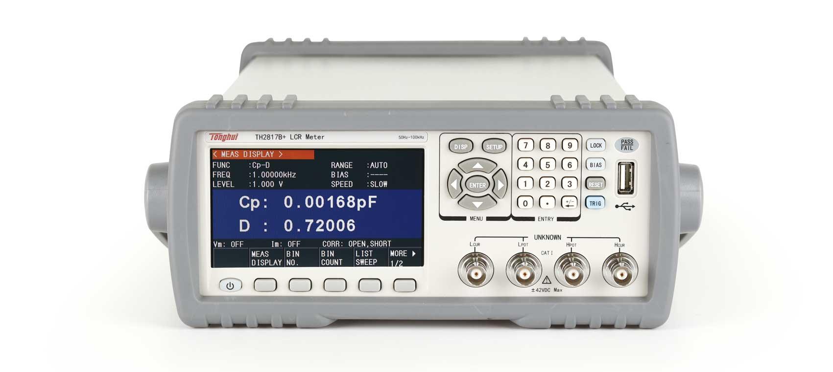 TONGHUI TH2817B-مقياس الدقة الأوتوماتيكي ، مقياس LCR ، الدقة الأساسية ، 100 كيلو هرتز ، منتج جديد ، 0.1%