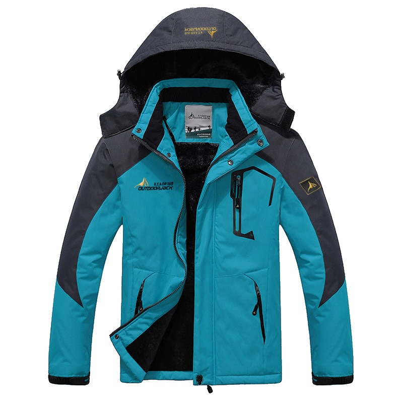 2019 New Autumn Winter Outdoor Sports Men Set Women Couples Large Size Windproof Cold Warm Add Velve Hiking Jacket