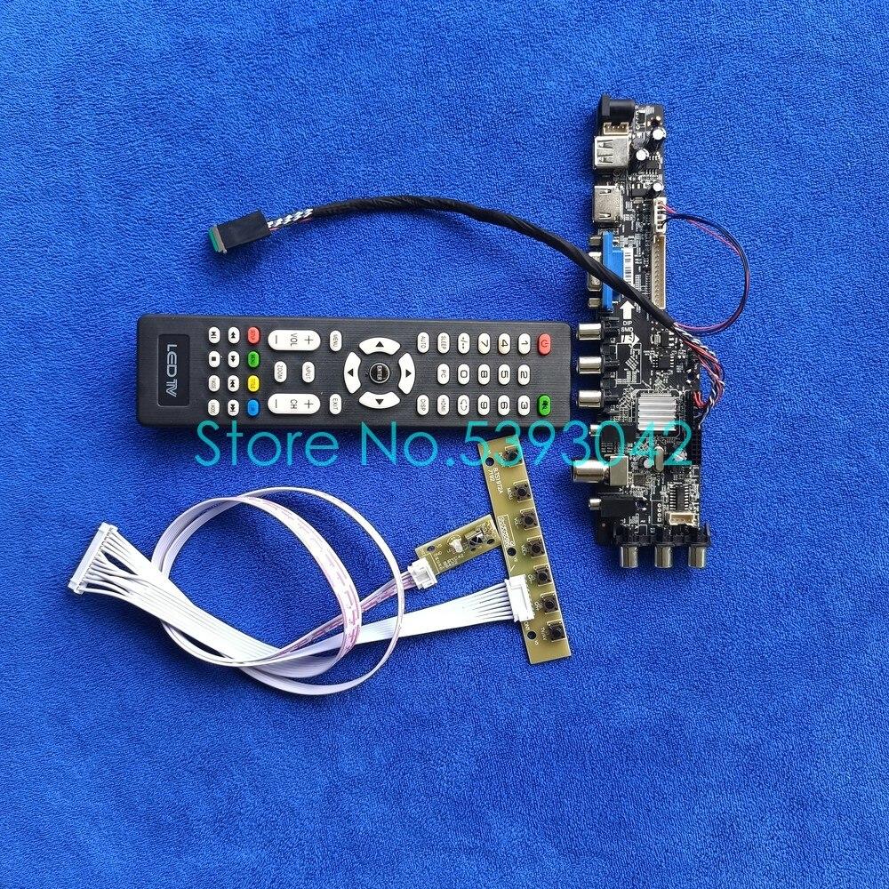 بطاقة تحكم عالمية مع إشارة USB VGA AV ، DVB 3663*1920 LVDS ، متوافق مع N156HGE/N164HGE/N173H6/N173HGE ، 40Pin ، 1080