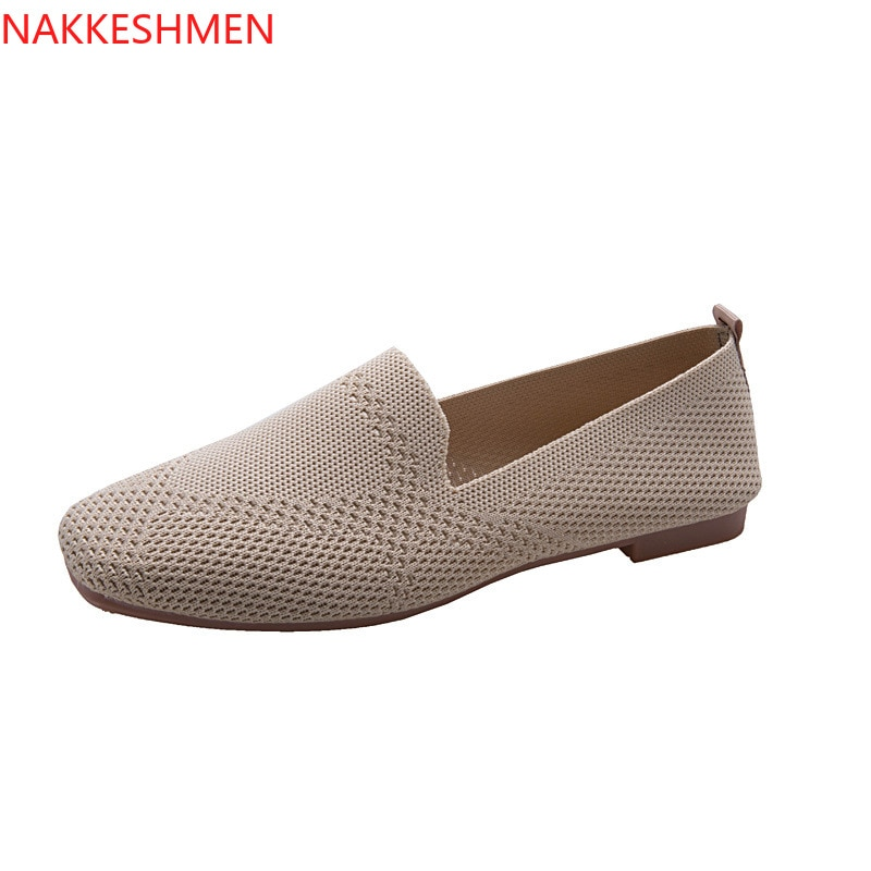 NAKKESHMEN, primavera 2020, novedad, Cabeza Cuadrada, tejido, fondo plano, Lefu, zapatos individuales
