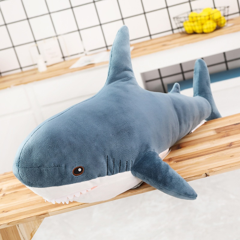 15-140cm Giant Shark Plush Toy Soft Stuffed Speelgoed Animal Reading Pillow for Birthday Gifts Cushion Doll Gift For Children