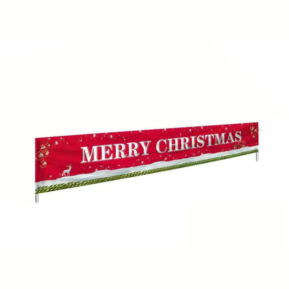 Merry Christmas Banner Large Xmas Sign Huge Xmas House Home Outdoor Party Decoration Holiday Party Atmosphere
