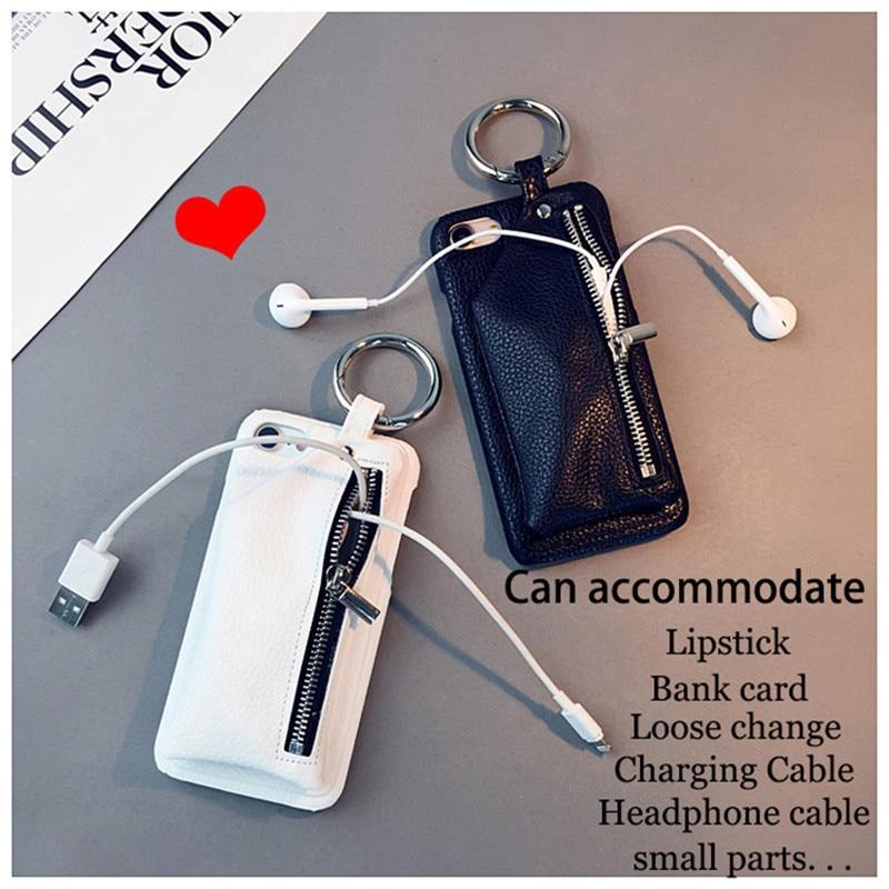 for iphone 11 pro max corium wallet phone case for iphone SE 2020 6 6s 7 8 plus x xs max xr zipper storage protective  case