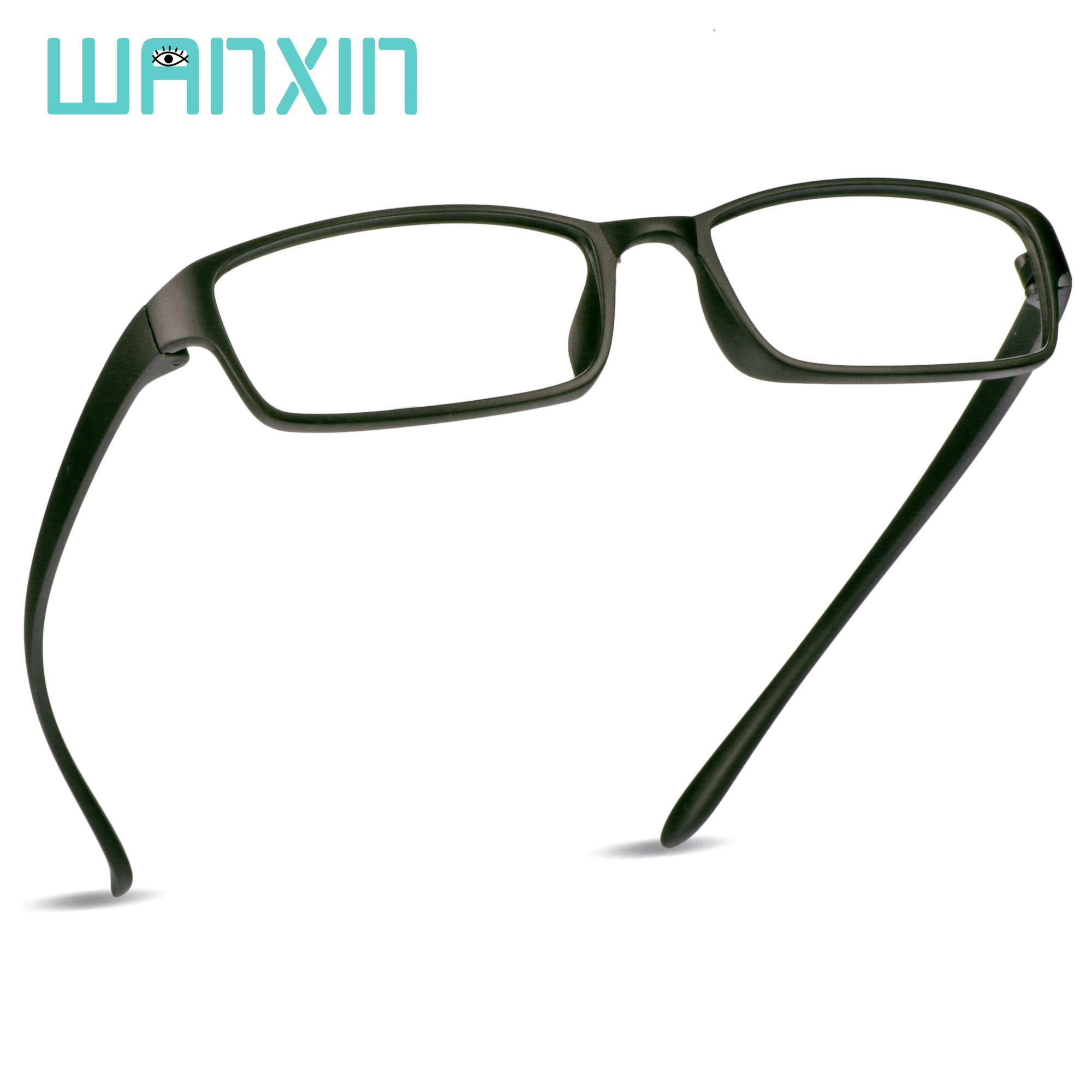 WANXIN de retro Azul de bloqueo de luz gafas rectángulo gafas de lectura, de ordenador