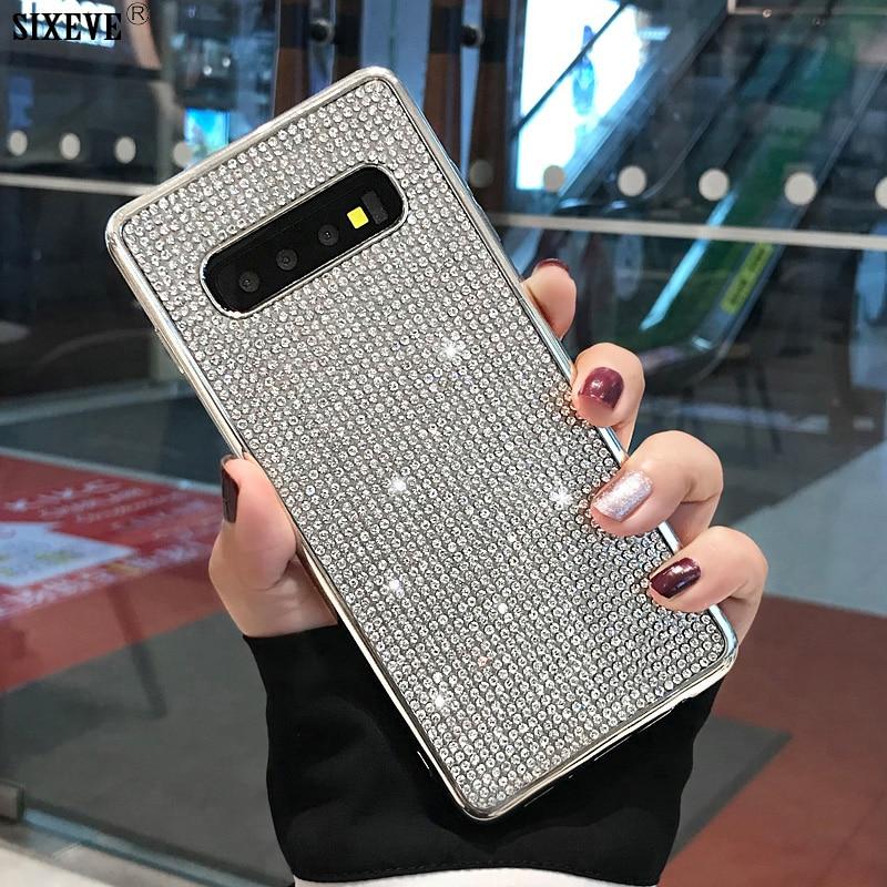 Роскошный блестящий чехол для Samsung S7 Edge, чехол S8 S9 S10 Plus, чехол S10E S 10 E, чехол, мобильный телефон, мягкий бампер Etui Diamond