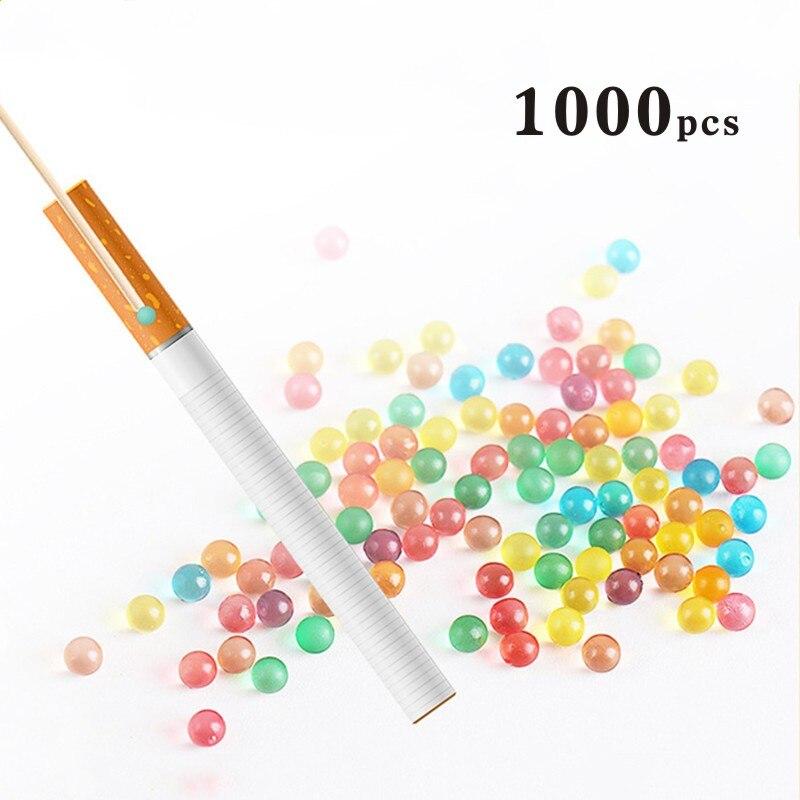 1000 Uds DIY cigarrillo Pops cuentas aromáticos explosión bola del grano del sostenedor de cigarrillo mentolado filtros herramienta de fumar 19 sabores