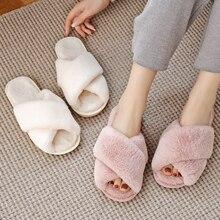 Zapatillas de casa de piel sintética para mujer, zapatos planos cálidos sin cordones, peludos, talla 36-43, invierno, venta al por mayor