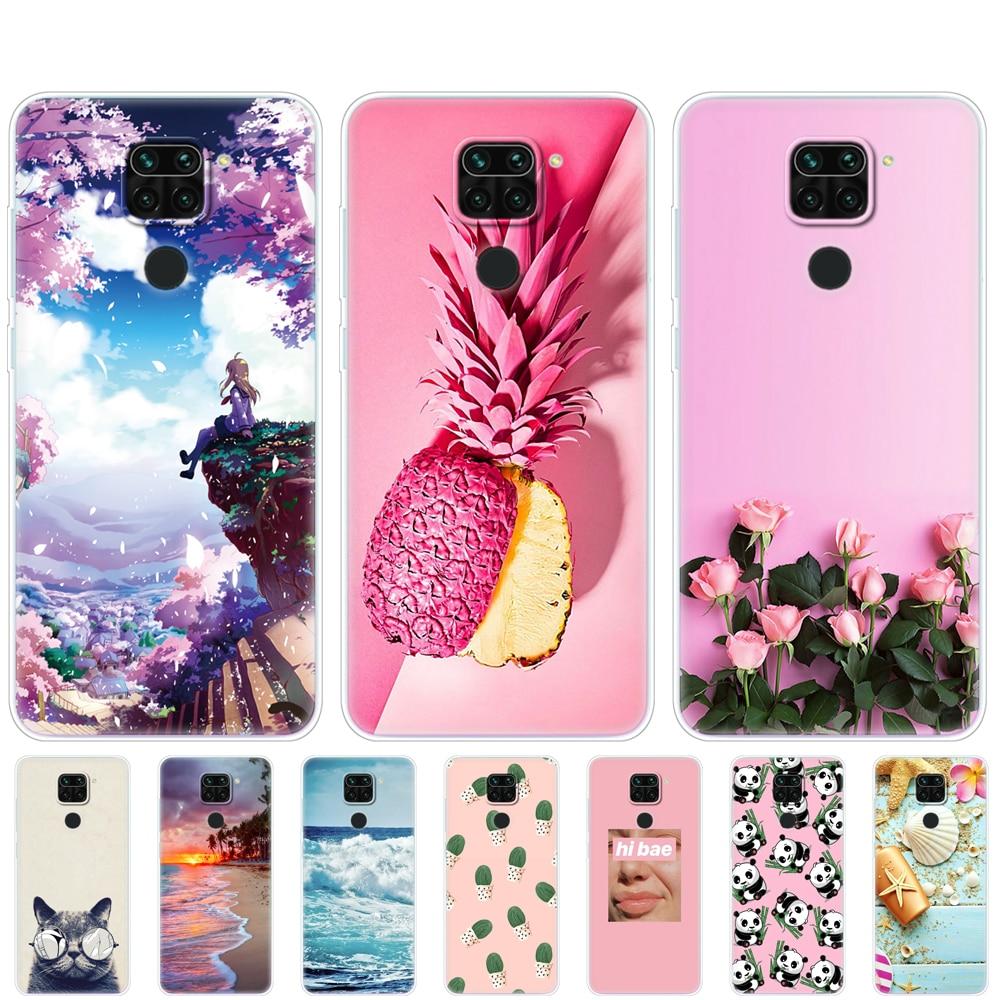 Para Redmi Note 9 suave Funda de silicona Tpu coque On xiaomi Redmi Note 9 Pro parachoques Funda Linda verano rosa