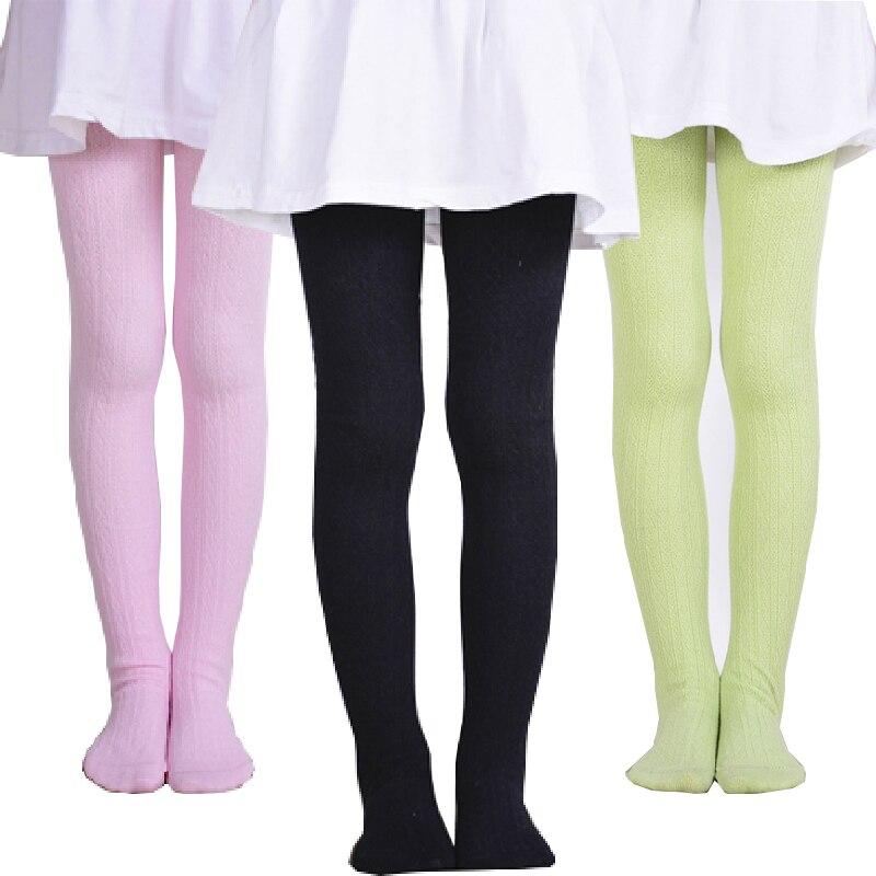 Outono inverno meninas meia-calça da criança meninas de malha meia-calça quente do bebê meninas collants multi cores da menina do bebê meia para 2-10 y