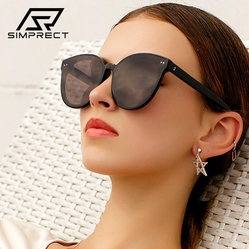 Gafas de sol de gran tamaño simprept, gafas de sol redondas 2020 Retro para mujer, gafas de sol de diseñador de marca de lujo, gafas de sol Vintage, gafas de sol grandes para mujer