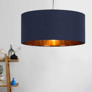 Artistic linen chandelier Nordic sentiment personality simple round cloth cover dining room bedroom bar single head lamp