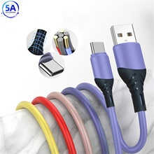 Mobile Phone Cables 5A 2m Stable Current Liquid Silicone Charger Cable Fast Charging for Huawei Mate