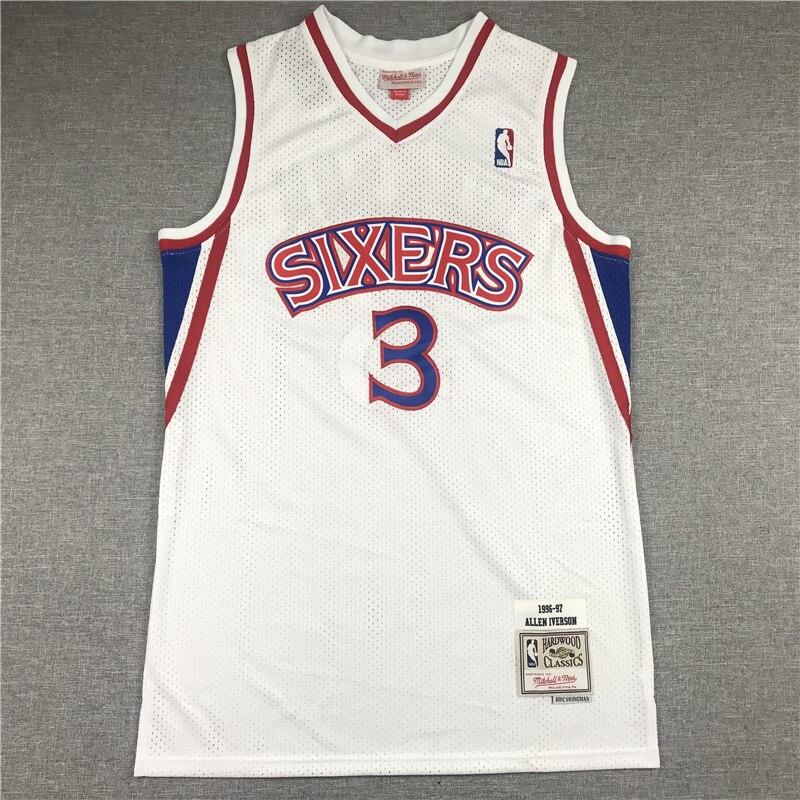 Camiseta de baloncesto de la NBA para hombre monokini Retro limitado... 76ers...