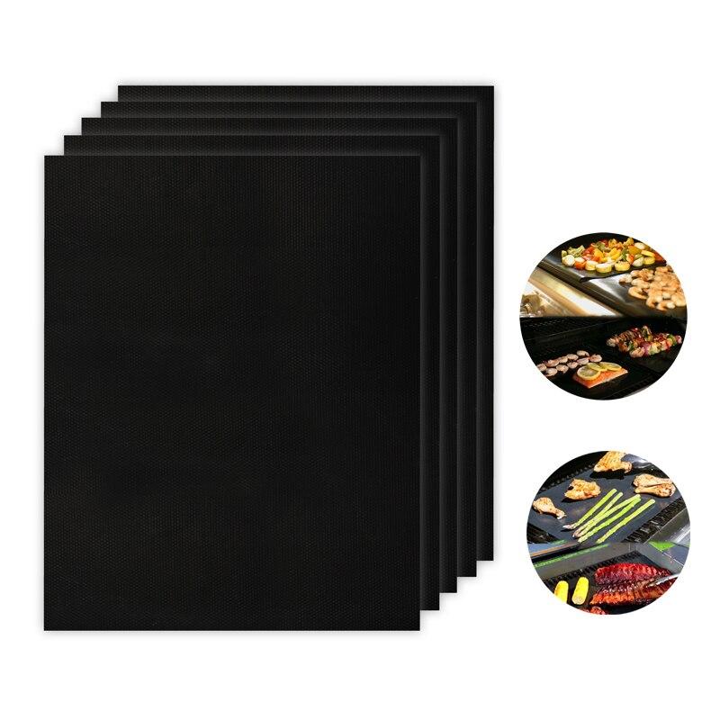 Антипригарная кухонная подкладка многоразовые PTFE барбекю коврики для жарки легко чистить барбекю Гриль коврики