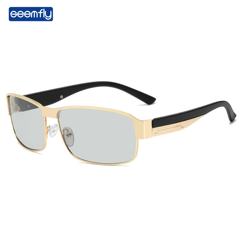 Seemfly Brand Designer Polarized Sunglasses Metal Soft Driving Outdoor Spectacles Color Piece Lens S