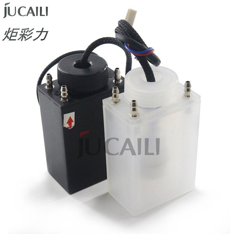 Jucaili 1pc 4 vías UV/tinta solvente Sub tanque para Infiniti Crystaljet Allwin solvente, impresora de tinta solvente Sub tanque