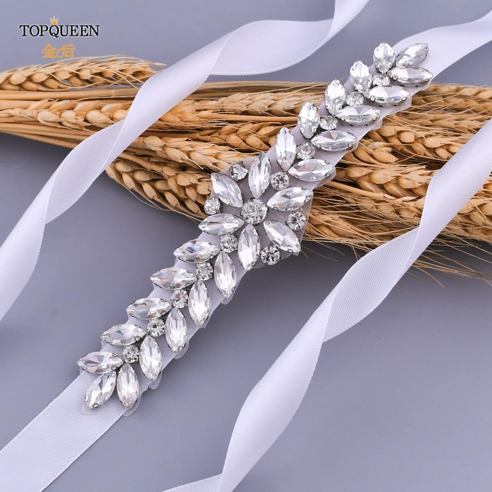 Luxe bruiloft riemen bruids kralen riem strass sjerp trouwjurk - Bruiloft accessoires - Foto 2