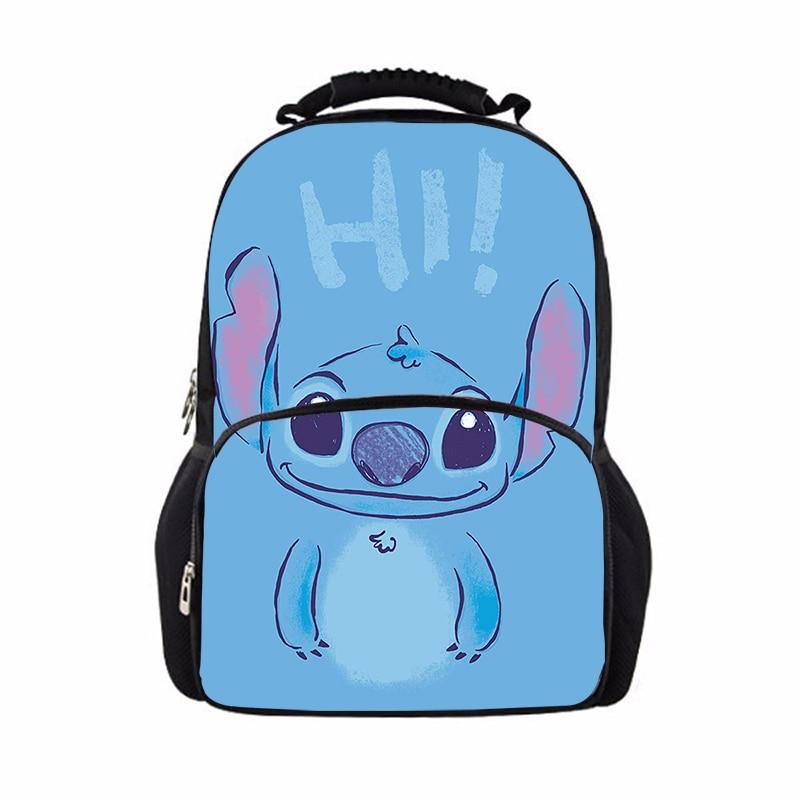 Mochila de viaje de 17 pulgadas Stitch, Mochila unisex para ordenador portátil, bolso de diseñador para estudiante, Mochila Masculina