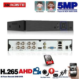 8 Channel AHD Video Recorder H.265 5MP 4MP 1080P 6 In 1 Hybrid DVR 8CH XVi TVi CVI IP NVR for Home CCTV Camera Surveillance 4CH