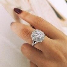 Conception originale 925 en argent Sterling de fiançailles de mariage de mode bague AAA CZ zircone pour les femmes bijoux LR4314S
