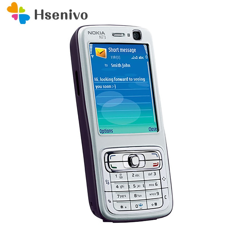 Nokia N73-هاتف خلوي مجدد ، هاتف ذكي أصلي غير مقفل ، لوحة مفاتيح GSM الإنجليزية والعربية والروسية