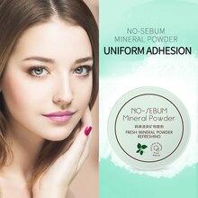 Poudre libre minérale rafraîchissante contrôle de lhuile légère et délicate poudre de maquillage durable fond de teint correcteur de maquillage nu naturel