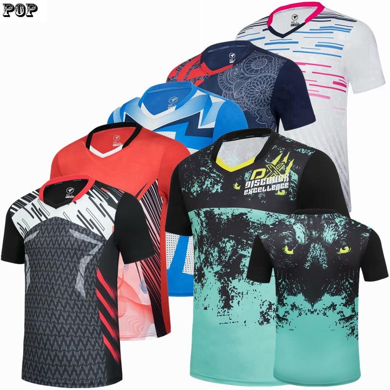 Neue badminton T-shirts männer polo Männer tischtennis frauen sport shirts trikots quick-dry training trikots kurzarm