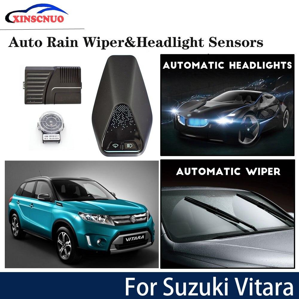 XINSCNUO sensor de limpiaparabrisas inteligente y sensor de faro para Suzuki Vitara 2018 2019 Sistema de Asistente de conducción automático