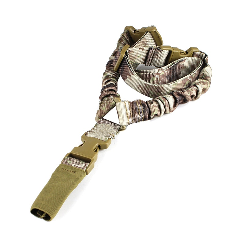 YYEDC marca táctico americano Sling un solo punto cuerda elástica ajustable Rifle pistola Sling Sistema de Correa táctico de un solo punto