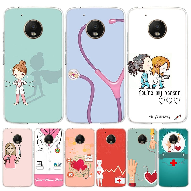 Funda de teléfono con dibujos para Motorola Moto G8 G7 G6 G5 G4 E6 E4 E5 Power Plus Play One Action, Macro Vision