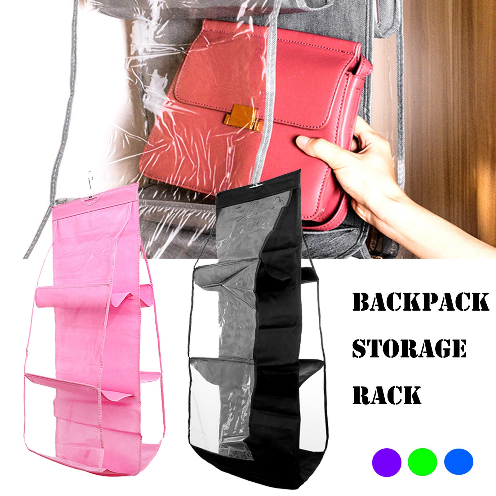 6 карманных подвешивающихся сумок органайзер для и кошельков шкаф хранения