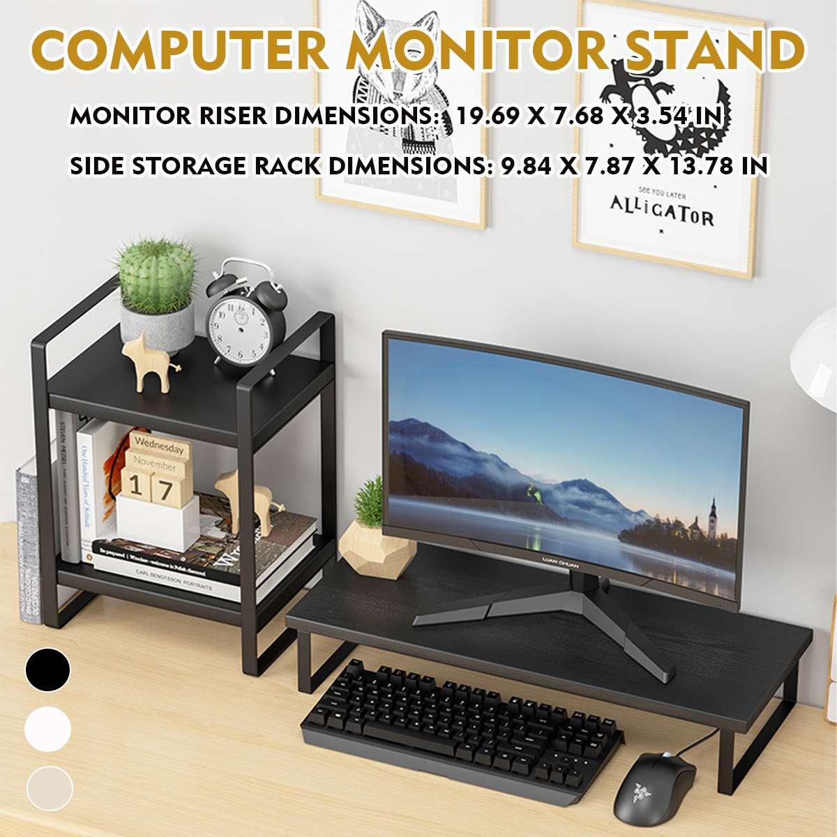 حامل شاشة تلفزيون الكمبيوتر مراقب الناهض الجدول حامل مجموعة سطح المكتب المحمول شاشة الرف المنظم رف المنزل مكتب Lapdesk