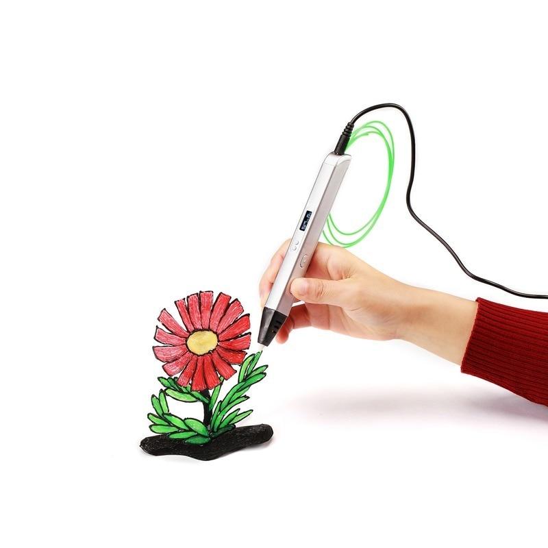 قلم رسم احترافي ثلاثي الأبعاد للرسم ، قلم رسم Lihuachen Rp800a ثلاثي الأبعاد مع شاشة Oled والفنون والحرف اليدوية وقلم اللغز